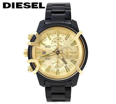 DIESEL ディーゼル DZ4525 メンズ用 ウォッチ 腕時計 GRIFFED ブラック×ゴールド 【送料無料】