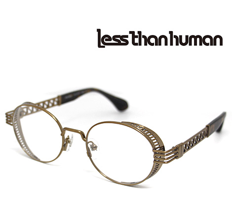 Less than human レスザンヒューマン メガネフレーム 伊達眼鏡 ブロンズ ENIGMA 9610【送料無料】