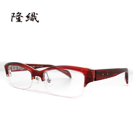 隆織-TAKAORI メガネフレーム 伊達眼鏡 ナイロール レッド TO-025 col.3【送料無料】