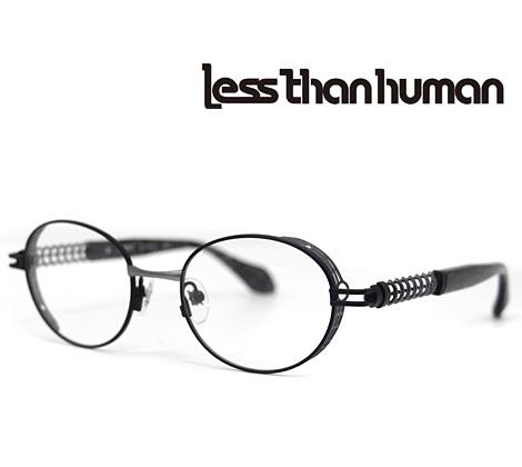 Less than human レスザンヒューマン メガネフレーム 伊達眼鏡 マットブラック×グレー OMNI 195S【送料無料】