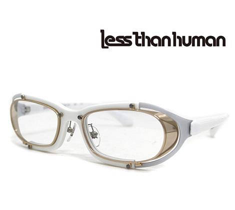 Less than human レスザンヒューマン メガネフレーム 伊達眼鏡 ホワイト×ゴールド SAKIGAKE 59【送料無料】