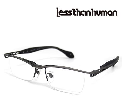 Less than human レスザンヒューマン メガネフレーム 伊達眼鏡 アンティックシルバー×マットブラック REPLICANT 89【送料無料】