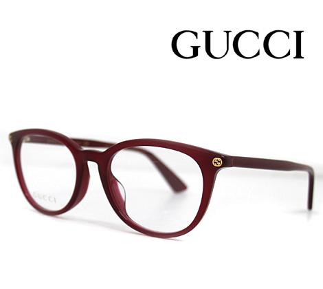 GUCCI グッチ 伊達眼鏡 メガネフレーム レッド GG0155OA 007【送料無料】
