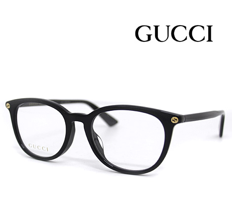 GUCCI グッチ 伊達眼鏡 メガネフレーム ブラック GG0155OA 005【送料無料】