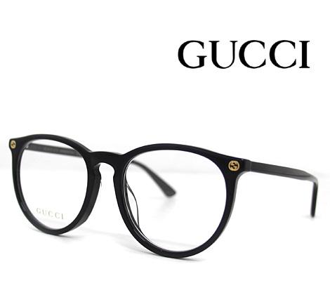 GUCCI グッチ 伊達眼鏡 メガネフレーム ブラック GG0027OA 001【送料無料】