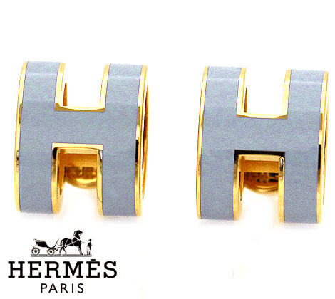 HERMES エルメス H608001F 97 ポップH ピアス アクセサリー パーム×ゴールド【送料無料】