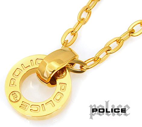 POLICE ポリス 23365PSG02 HALLOW ステンレス ゴールド ネックレス/ペンダント【送料無料】