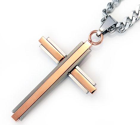 823aa21442ceeb ... POLICEポリスGLAZEバイカラークロス/十字架ネックレス/ペンダントピンクゴールド×シルバー25695PSRG ...
