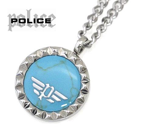POLICE ポリス 26515PSS03 VERNAZZA ネックレス ペンダント アクセサリー シルバー×ターコイズブルー 【送料無料】