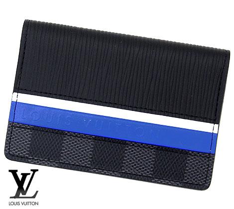 ホワイトとブルーのストライプに Louis Vuitton シグネチャーでアクセントを添えました コンパクトでありながら実用的なアイテムです LOUIS VUITTON ルイ ヴィトン M69536 海外並行輸入正規品 エピ オーガナイザー ポッシュ 上品 ダミエ グラフィット ドゥ 名刺入れ ノワール 送料無料 カードケース 限定商品