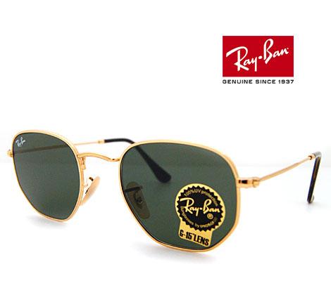Ray Ban レイバン サングラス HEXAGONAL FLAT LENSES 48mmサイズ ヘキサゴナル ゴールド×グリーンクラシック RB3548N 001 48 正規品【送料無料】【05P03Dec16】