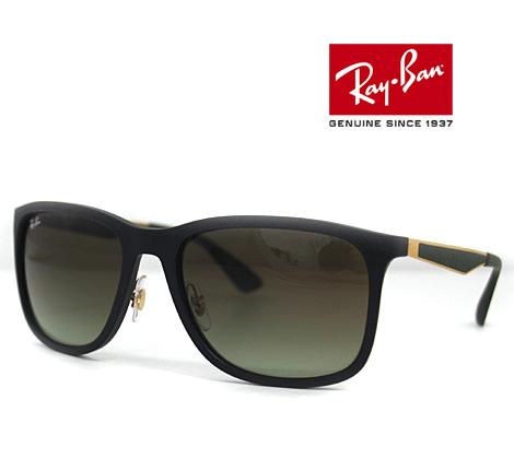 Ray Ban レイバン サングラス RB4313 601S/E8 58 マットブラック×ゴールド×ラバーグリーン×グリーンブラウングラディエント 正規品【送料無料】