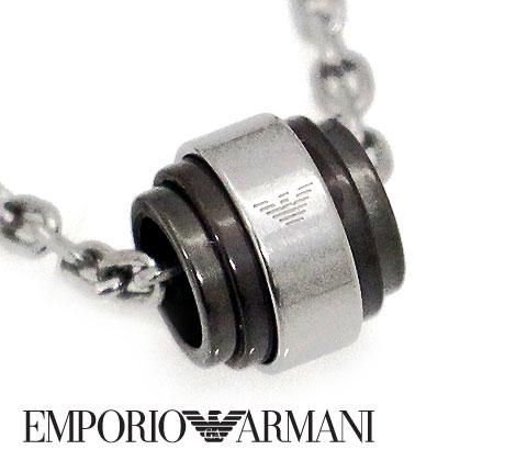 EMPORIO ARMANI エンポリオ アルマーニ アクセサリー イーグルロゴ ネックレス/ペンダント シルバー×ガンメタル EGS2467040【送料無料】