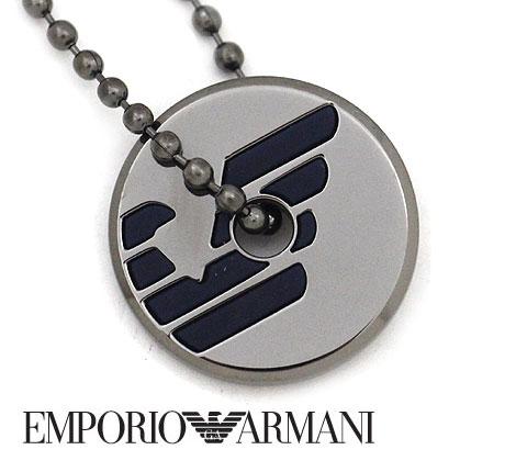 EMPORIO ARMANI エンポリオ アルマーニ EGS2545060 アクセサリー イーグルロゴ ネックレス/ペンダント ボールチェーン ガンメタル【送料無料】