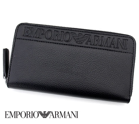 EMPORIO ARMANI エンポリオアルマーニ YEME49 YSL5J 81072 ラウンドファスナー長財布 小銭入れ付 ブラック 【送料無料】