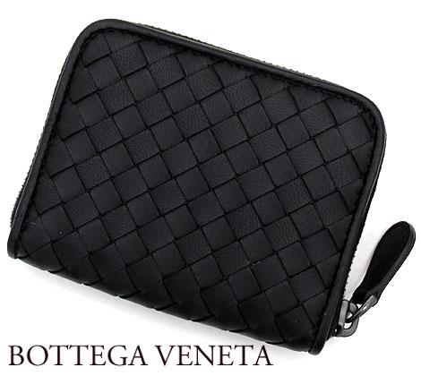 BOTTEGA VENETA ボッテガヴェネタ アウトレット 258468 V001N 1000 イントレチャート コインケース ラムレザー ブラック 送料無料