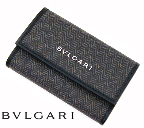 BVLGARI ブルガリ WEEKEND ウィークエンド 6連キーケース ブラック 32583 【送料無料】【05P03Dec16】