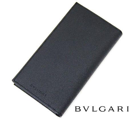 c6c12441ef76 BVLGARIブルガリクラシコ小銭入れ付長財布グレインレザーブラック25752【送料無料】