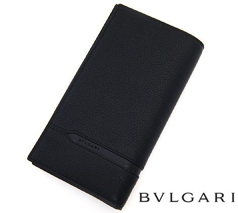 BVLGARI ブルガリ Octo オクト レザー 小銭入れ付 長財布 ブラック 36966【送料無料】【05P03Dec16】