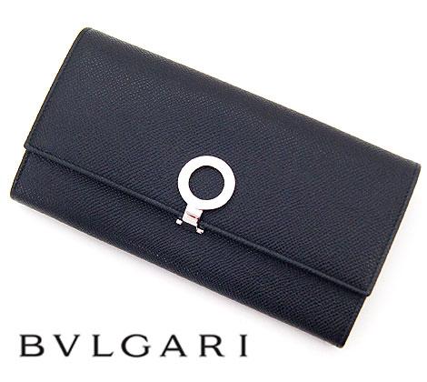 BVLGARI ブルガリ ブルガリ・ブルガリ 小銭入れ付 長財布 ブラック 30414 BLACK【送料無料】