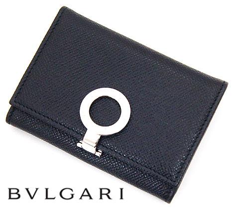 BVLGARI ブルガリ ブルガリ・ブルガリ カードホルダー カードケース 名刺入れ ブラック 30420 BLACK【送料無料】
