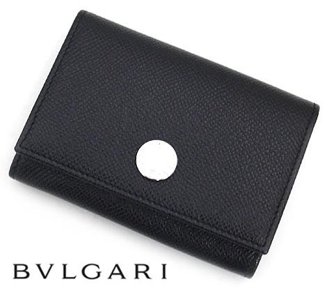 BVLGARI ブルガリ 25740 CLASSICO クラシコ グレインレザー カードケース/名刺入れ カードホルダー ブラック【送料無料】