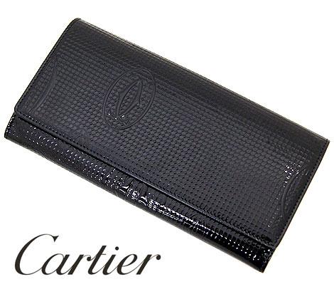 Cartier カルティエ ハッピーバースデー 小銭入れ付き長財布 ブラック ヴァーニッシュ カーフスキン L3001284【送料無料】【05P03Dec16】