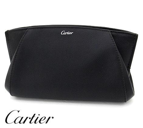 Cartier カルティエ L3001478 C ドゥ カルティエ クラッチバッグ ハンドバッグ セカンドバッグ コスメポーチ 化粧ポーチ 小物入れ レザー オニキス 【送料無料】