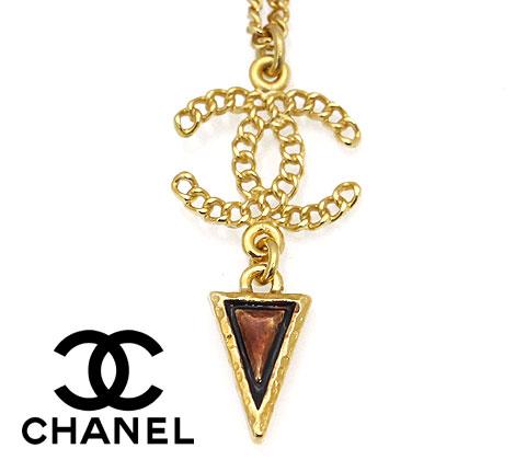 CHANEL シャネル AB0263 GOLD アクセサリー ネックレス ペンダント CCココマーク ゴールド×ブラウン 【送料無料】