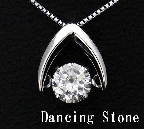 Dancing Stone ダンシングストーン PT プラチナ ダイヤモンド ネックレス ペンダント 0,500ct LFV-0423 鑑別書付【送料無料】