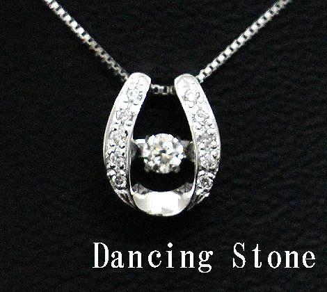Dancing Stone ダンシングストーン K18WG ホワイトゴールド ダイヤモンド ネックレス ペンダント 0,110ct SSD-0060【送料無料】