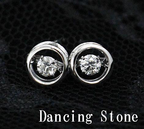Dancing Stone ダンシングストーン PT プラチナ ダイヤモンド ピアス トータル0,200ct FTWE-0056【送料無料】