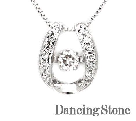 Dancing Stone ダンシングストーン K18WG ホワイトゴールド ダイヤモンド ネックレス ペンダント 0,160ct SSD-0061 鑑別書付【送料無料】