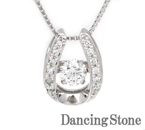 Dancing Stone ダンシングストーン K18WG ホワイトゴールド ダイヤモンド ネックレス ペンダント 0,382ct SSD-0064 鑑別書付【送料無料】