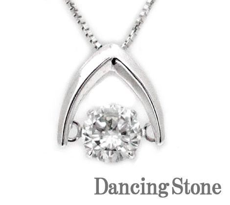 Dancing Stone ダンシングストーン K18WG ホワイトゴールド ダイヤモンド ネックレス ペンダント 0,388ct LFV-0006 鑑別書付【送料無料】