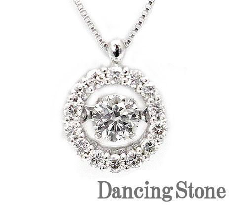 Dancing Stone ダンシングストーン PT プラチナ ダイヤモンド ネックレス ペンダント 0,390ct SSD-0004【送料無料】