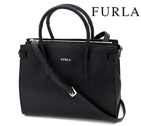 FURLA フルラ B30 942235 PIN S TOTE 2Wayバッグ ハンドバッグ ショルダーバッグ ブラック BLACK【送料無料】