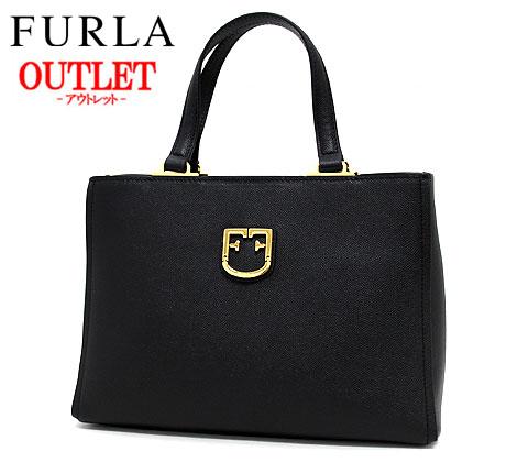 FURLA フルラ アウトレット 1007964 BELVEDERE S ハンドバッグ ショルダーバッグ 2wayバッグ ONYX (ブラック) 【送料無料】