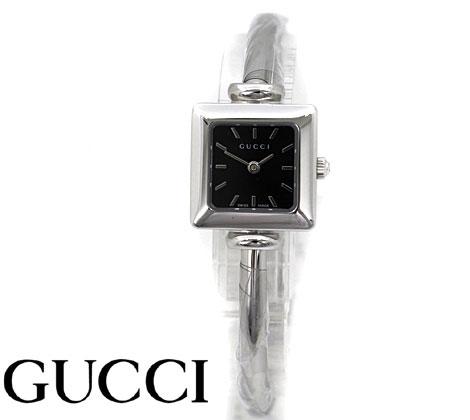 GUCCI  グッチ レディース ウォッチ 腕時計 1900 バングルタイプ シルバー×黒色文字盤 YA019517【送料無料】