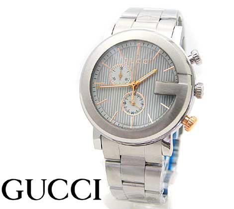 b30127f17310 YA126410 GUCCI ブラック文字盤 腕時計 126.4 【中古】 美品 クォーツ グッチ SS Gタイムレス メンズ
