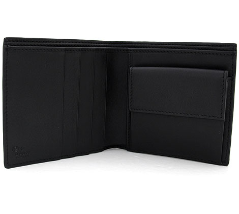 d3667ac88b44ee ... GUCCIグッチ150413BMJ1N1000アウトレットマイクログッチシマ小銭入れ付二つ折り財布ブラック