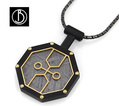 Best Boco ギベオン メテオライト Meteorite Pendant XDB 隕石 ネックレス/ペンダント ブラック×ゴールド GMS-PDX-D-Black-REALIZE【送料無料】