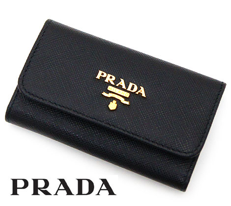 PRADA プラダ 1PG222 QWA F0002 NERO SAFFIANO METAL 6連キーケース ブラック【送料無料】【05P03Dec16】