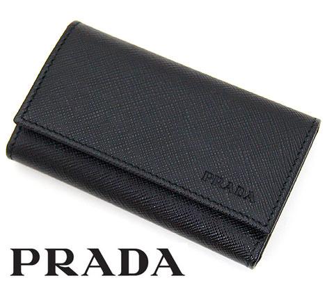 PRADA プラダ SAFFIANO 6連キーケース ブラック 2PG222 053 F0002 NERO【送料無料】【05P03Dec16】