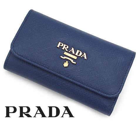 PRADA プラダ 1PG222 QWA F0016 SAFFIANO METAL サフィアーノ 6連キーケース ブルー BLUETTE【送料無料】