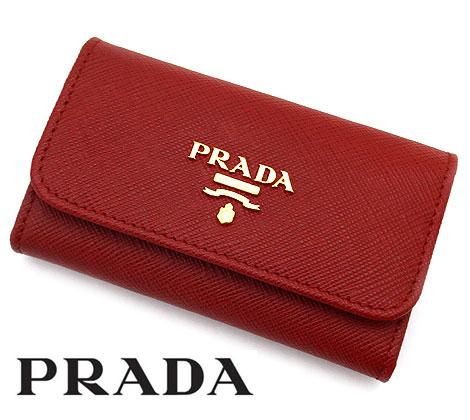 PRADA プラダ 1PG222 QWA F068Z SAFFIANO METAL サフィアーノ 6連キーケース レッド FUOCO【送料無料】