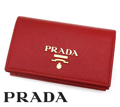 PRADA プラダ 1MC122 QWA F068Z SAFFIANO METAL 名刺入れ カードケース FUOCO レッド系 【送料無料】