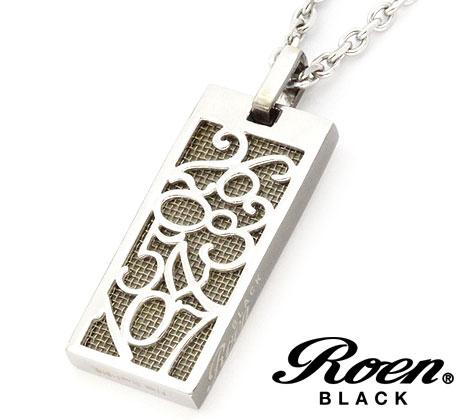 RoenBLACK ロエンブラック パルファム 香水 ネックレス ペンダント ナンバー プレート ステンレス ROP-001 正規品 シルバー【送料無料】