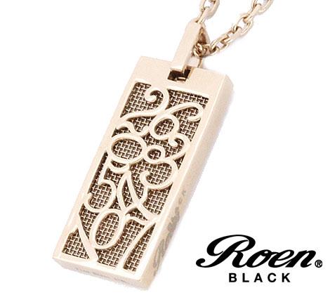 RoenBLACK ロエンブラック パルファム 香水 ネックレス ペンダント ナンバー プレート ステンレス ROP-002 正規品 ピンクゴールド【送料無料】