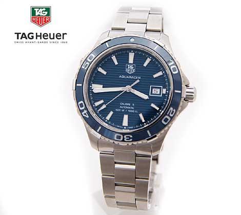 TAG Heuer タグホイヤー メンズ 腕時計 アクアレーサー 自動巻き ブルー×シルバー WAK2111 BA0830【送料無料】【05P03Dec16】